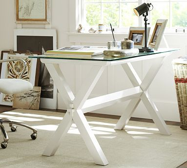10 best images about decorating office space on pinterest studios shelves and two tones - Antique white office desk ...
