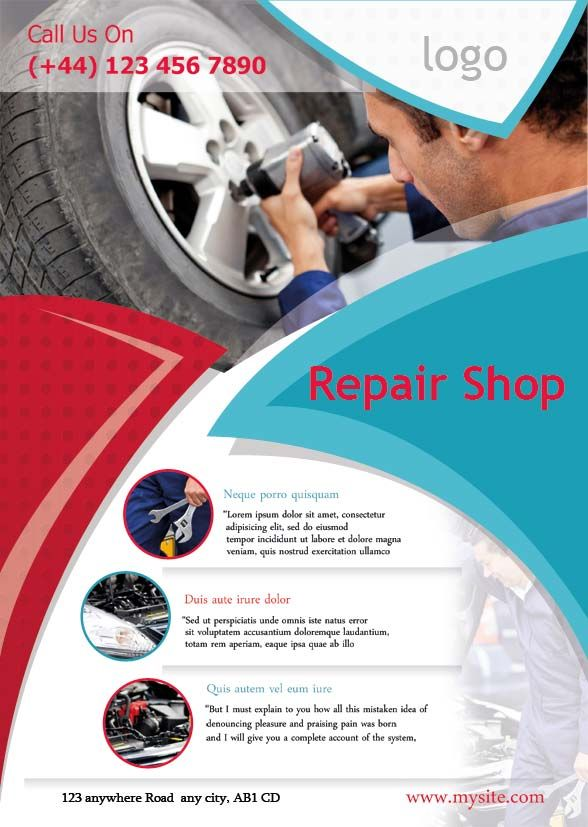 showing post & media for automotive shop flyers | www.flyersdo, Invoice templates