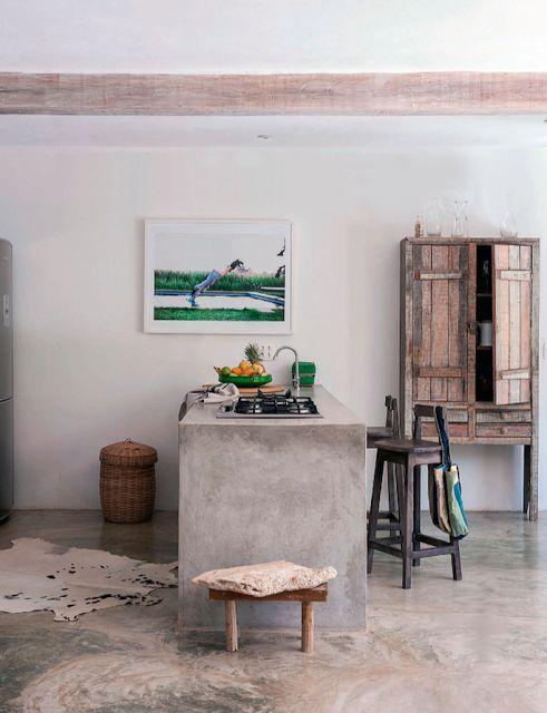 #interieur #interieurontwerp #keuken #beton #hout #kitchen #concrete #wood