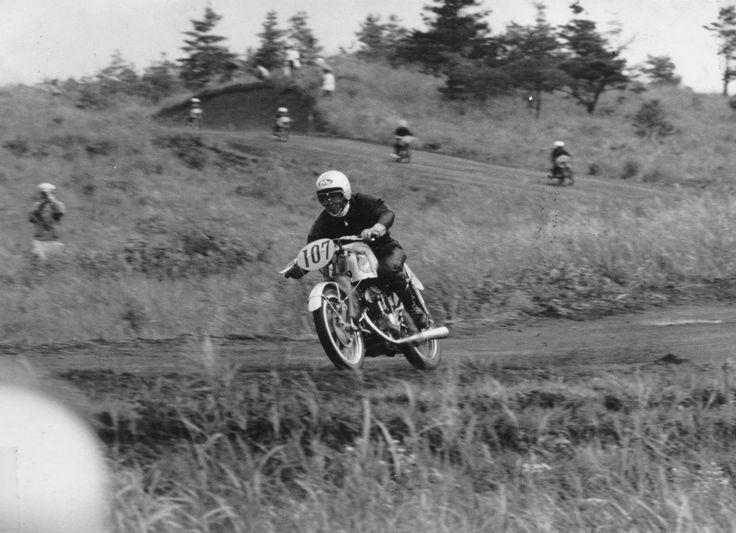 """二輪文化を伝える会さんのツイート: """"1959年8月の第3回浅間火山レース、耐久125ccクラス。…"""