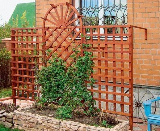 (97) Gallery.ru / Фото #1 - Деревянный трельяж - опора своими руками - Lin4ik