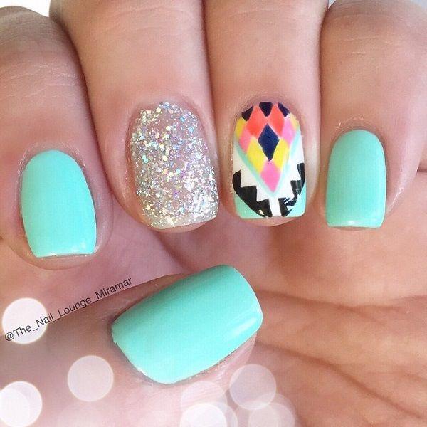 Blue Nail Polish The Block: 25+ Best Ideas About Sky Blue Nails On Pinterest