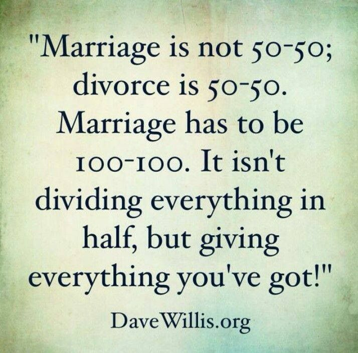 Marriage 100-100 don't give up!                              …