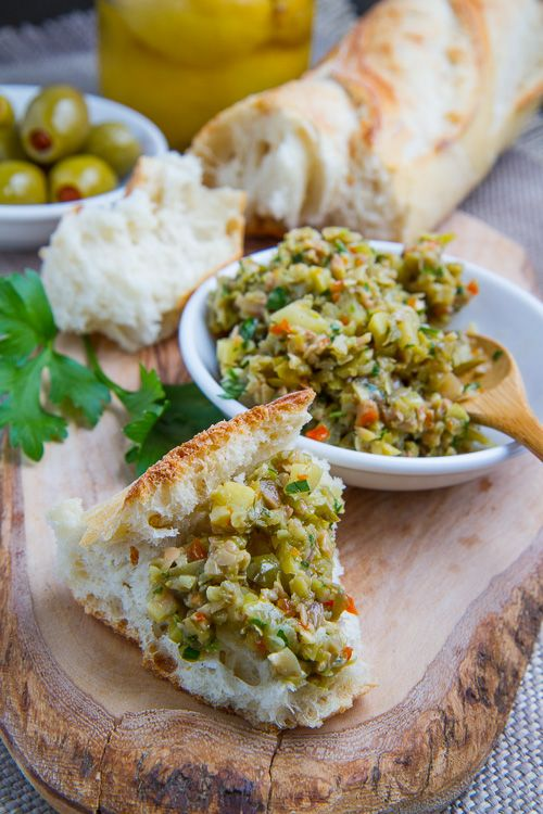 Green Olive and Preserved Lemon Tapenade
