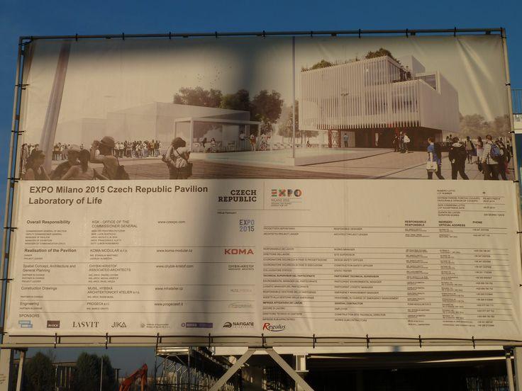 Výstavba pavilonu České republiky je v plném proudu. www.regulus.cz