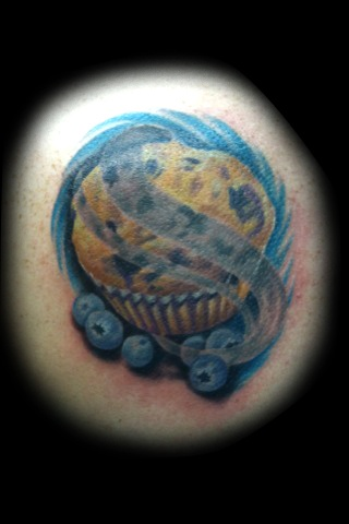 blueberry muffin tattoo by matt skin tattoos by matt skin pinterest blueberries muffins. Black Bedroom Furniture Sets. Home Design Ideas