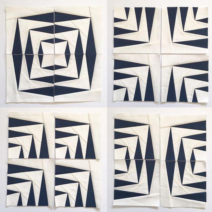 """Paper Cut No. 1"" block foundation paper piecing pattern"