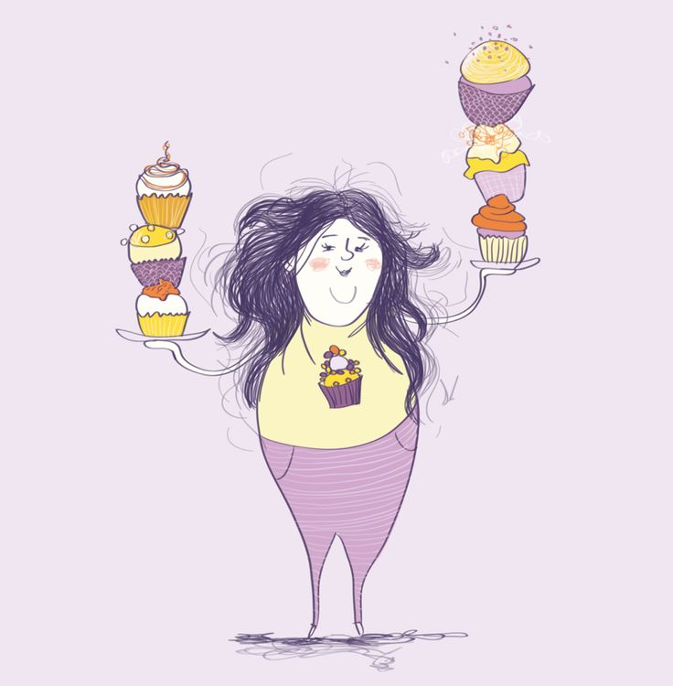 Editorial illustration #magazine #illustration #vibekehoie #cupcakes #drawing #purple #yellow