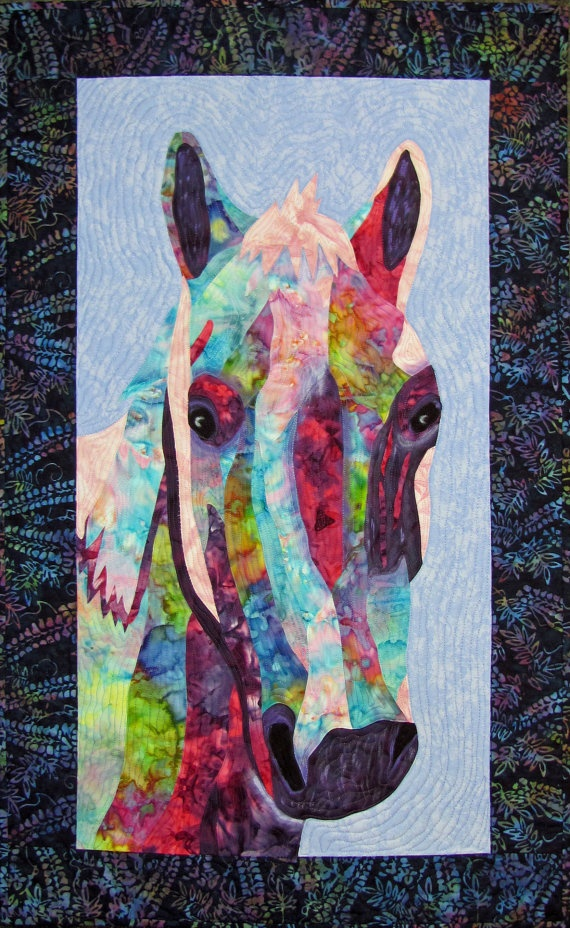 35 best Fabric horses images on Pinterest | Painting, Animal ... : horse material for quilts - Adamdwight.com