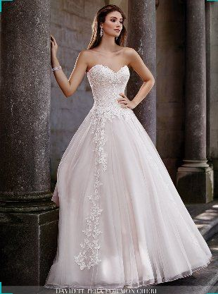 Just arrived - David Tutera Style 117267 - size 20.  Come try on this gorgeous gown. Always open WED-SAT 10 am - 6 https://t.co/68RDCqsPtG
