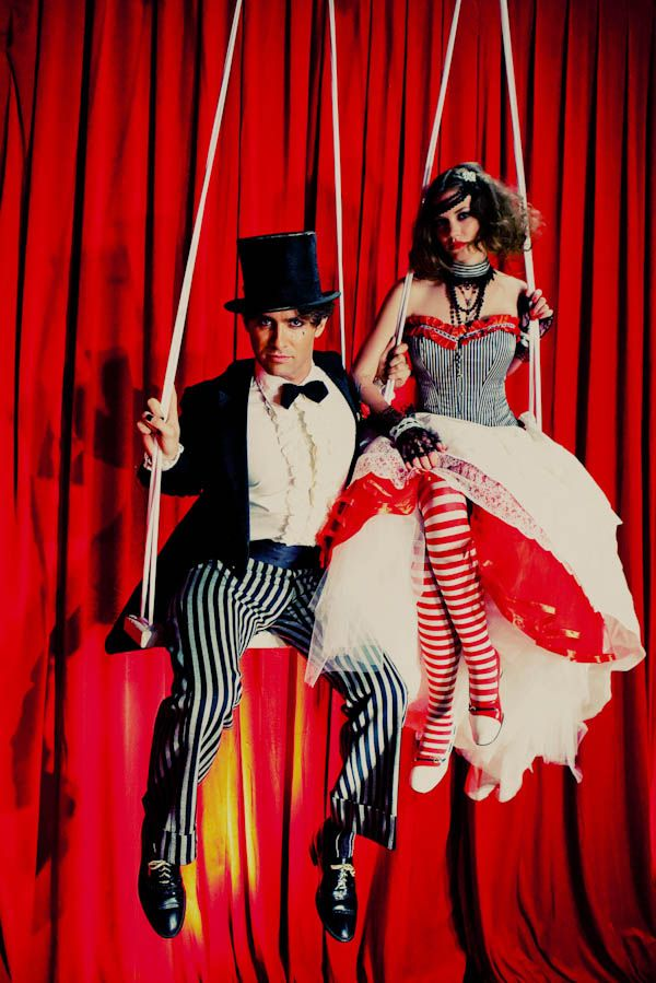 This looks like a Dresden Dolls music video. Amanda Palmers' wedding? haha. A Dark Circus Inspiration Shoot