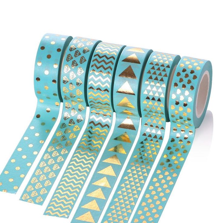 145 pattern DIY decorative sticky tape 15mm*10m Gold Foil Gilded Paper Tapes Print tape washi tape bronzing tape wholesale AG