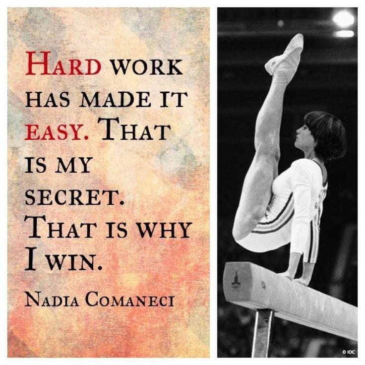 Nadia Comaneci #gymnastic #quote via @TheOlympics