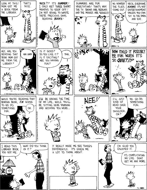 calvin and hobbes library - Google Search