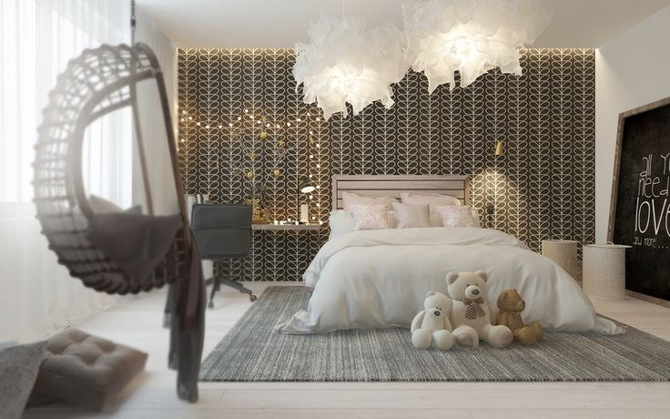 Photo: A Pair Of Childrens Bedrooms With Sophisticated Themes- For More Visit: http://www.home-designing.com/2016/03/a-pair-of-childrens-bedrooms-with-sophisticated-themes