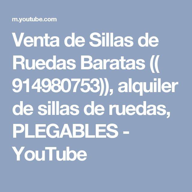 Venta de Sillas de Ruedas Baratas (( 914980753)), alquiler de sillas de ruedas, PLEGABLES - YouTube