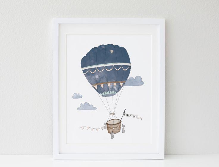 Hot Air Balloon A3 Print
