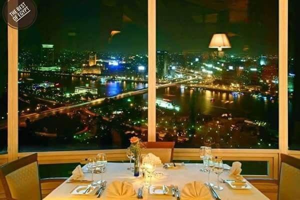 الصورة من المطعم الدوار ببرج القاهرة From Cairo Tower Table Decorations Decor Egypt