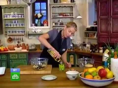 Завтрак с Юлией Высоцкой - Бананово-шоколадные маффины - YouTube