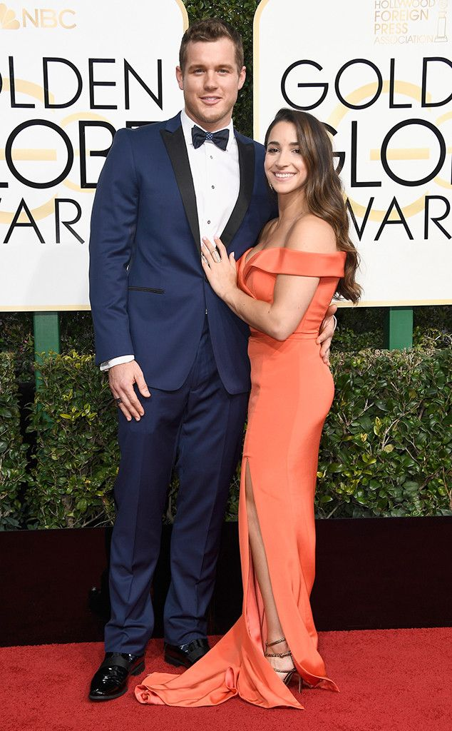 Colton Underwood & Aly Raisman from 2017 Golden Globes: Red Carpet Couples  Look at these cuties! The couple's happiness is almost contagious on the red carpet.