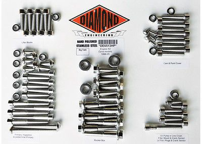 DIAMOND ENGINEERING BOLT KIT 99-05 FXD MTR OE DE6513HP 24010840