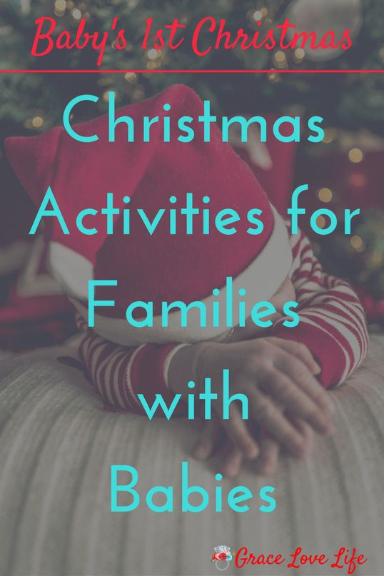 Christmas Activities for Families with Babies. If you have a newborn this christmas then this list is for you. Make baby's first Christmas special with these activities. | Grace Love Life