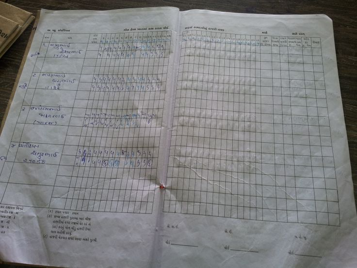 Attendence sheet of the people who are officially deployed to collect waste.