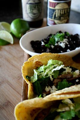 Flank Steak Tacos with an Avocado Dressing
