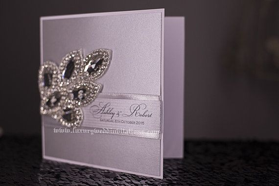 Art Deco Luxury Wedding Invitations A Set by luxuryweddinvitation