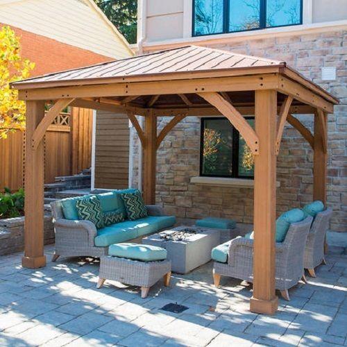 Cedar Wood 12' x 12' Gazebo with Aluminum Roof by Yardistry #Yardistry