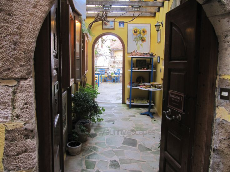 Chania, Crete: Picturesque shops in the Old Venetian town of Chania. View our mini-guide to Chania and find out more about this amazing town: http://www.mysunnyescapes.com/chania.php