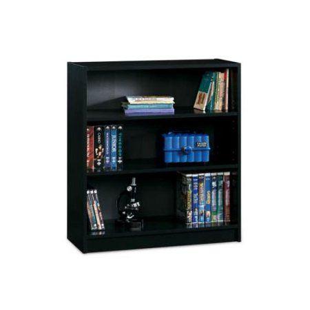 Sauder 3-Shelf Bookcase, Black Finish