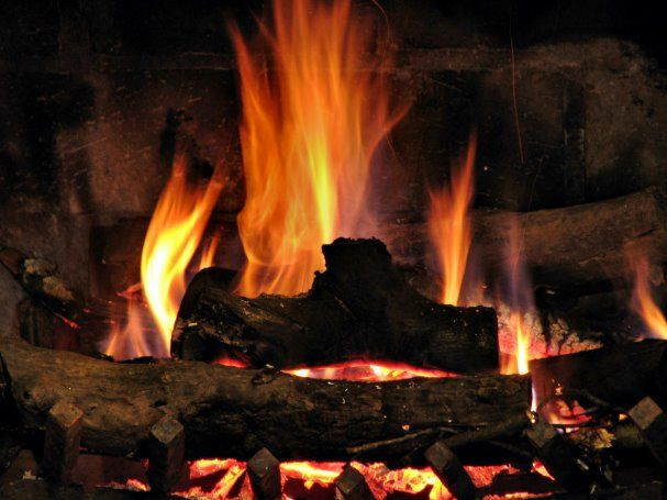 View Of A Fire Burning In A Fireplace Poster Zazzle Com Fire