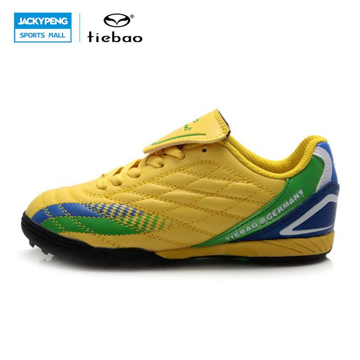 TIEBAO Professional Outdoor Sport Kids Football Shoes Sneakers Children Teenagers National Flag Style Turf TF Soles Soccer Shoes