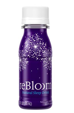 reBloom - a drink clinically proven to help you fall asleep faster and stay asleep longer. It's like the anti 5-hour energy. Apparently, it's also supposed to enable you to wake up feeling more refreshed, given that you've likely had a better night's sleep. According to the label, it's only five calories, tastes like an herbal tea, and is made with natural ingredients (AKA no preservatives or drugs).