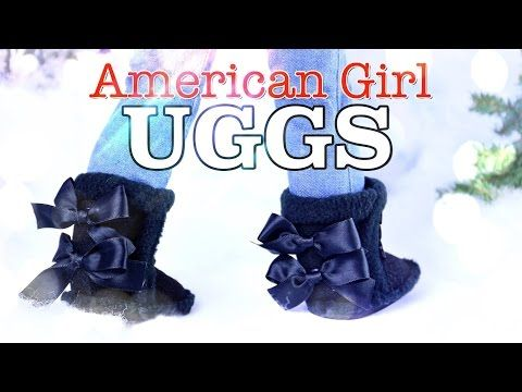 DIY - How to Make: American Girl UGG Boots - Holiday Gift Ideas - Craft - 4K - YouTube