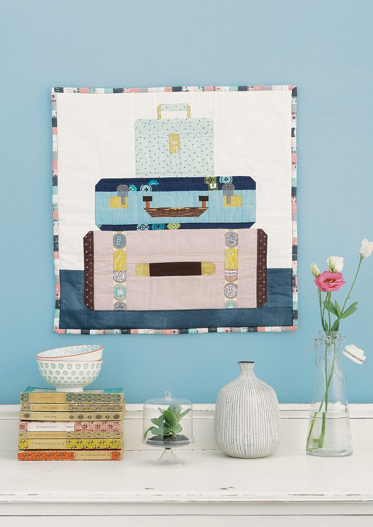 Bon Voyage mini quilt by Kerry Green for Love Patchwork & Quilting issue 23