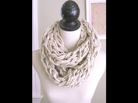 How to Arm Knit - The Fastest Way to Knit a Chunky Scarf!