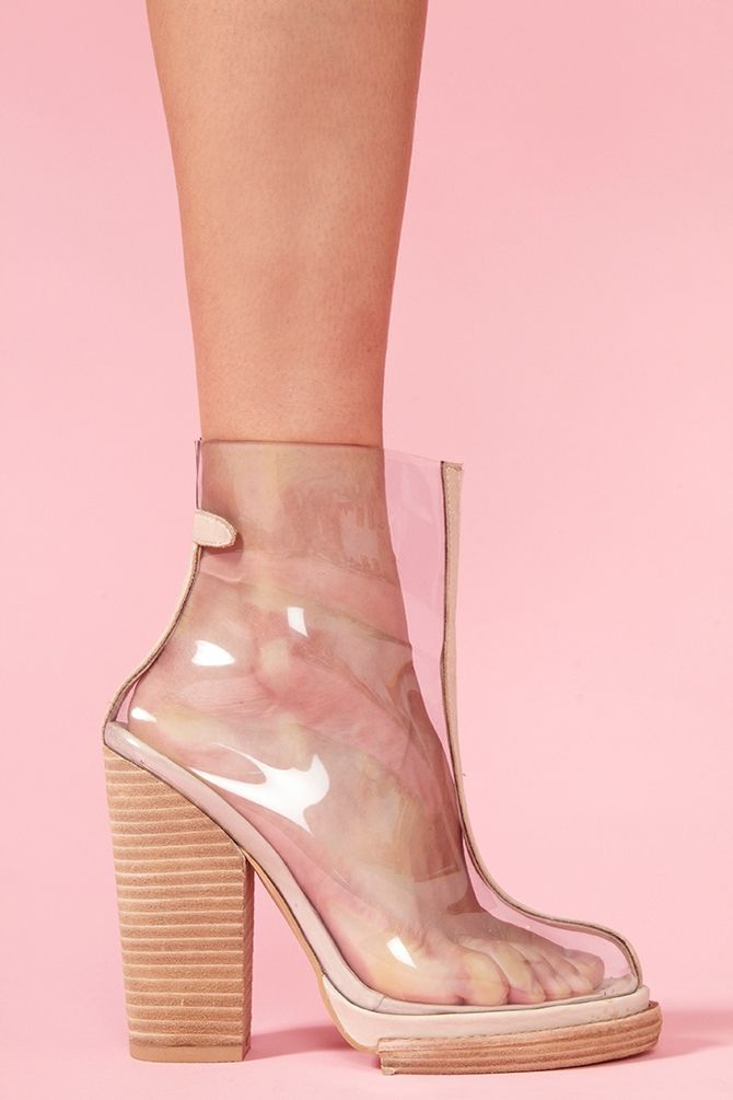 Clear Platform Boot #transparent #shoes