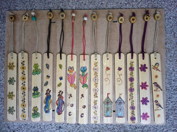 Book Markers made from old Venetian Blinds.