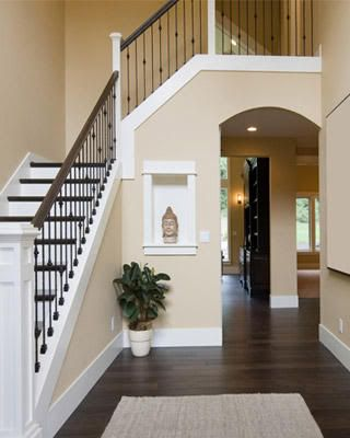 10 Creative Methods to Decorate Along with Brown | Banisters, Dark ...