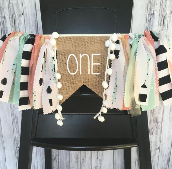 Boho First Birthday Highchair Banner// Aztec First by MKsBowtique