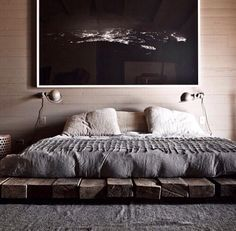 neutral tone futon bedroom