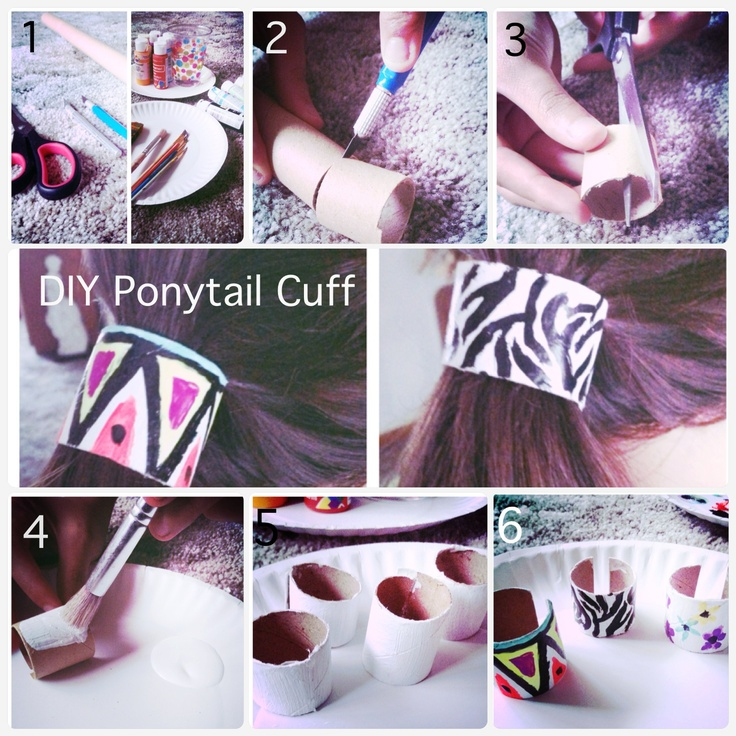 Best Hair Accesories Images On Pinterest Hair Accessories - Ponytail cuff diy