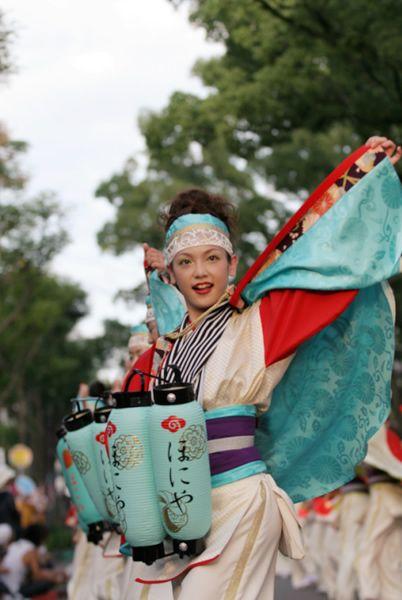 #yosakoi performer. YOSAKOI,  one of the traditional dance events of #Japan in Summer. Originally started in Kochi.