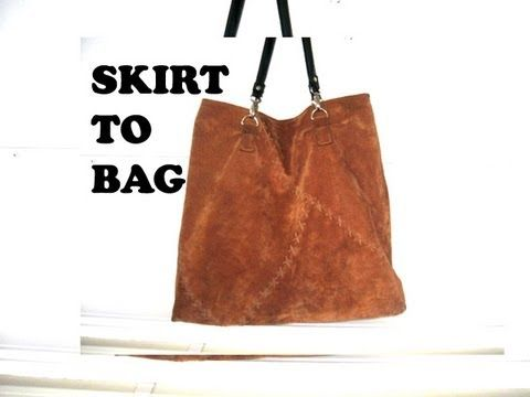 ▶ how to make a leather tote bag from a skirt - YouTube