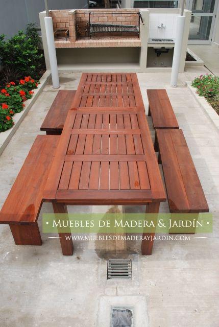 Mesa de timbo para exterior mesas pinterest patios - Mesas de madera para exterior ...