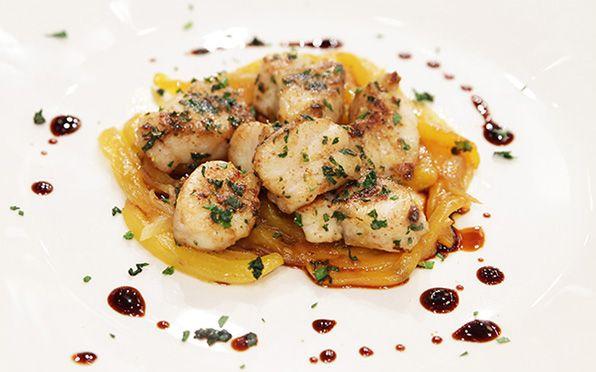 Dadolata di cernia con peperone giallo, #masterchef #italy