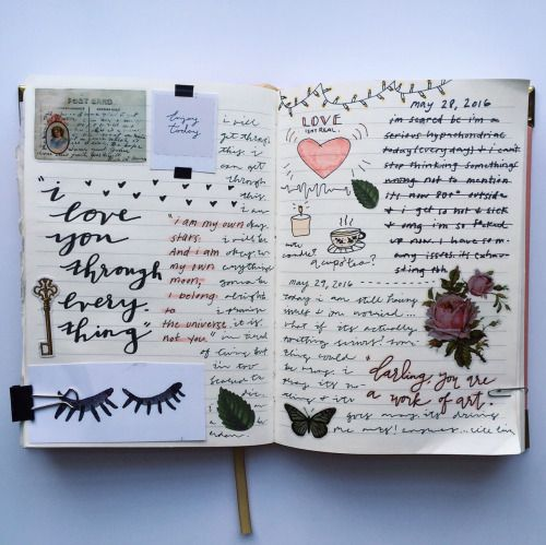 Writing in Notebooks - florallpeach:   dreamy ☁️☁️☁️
