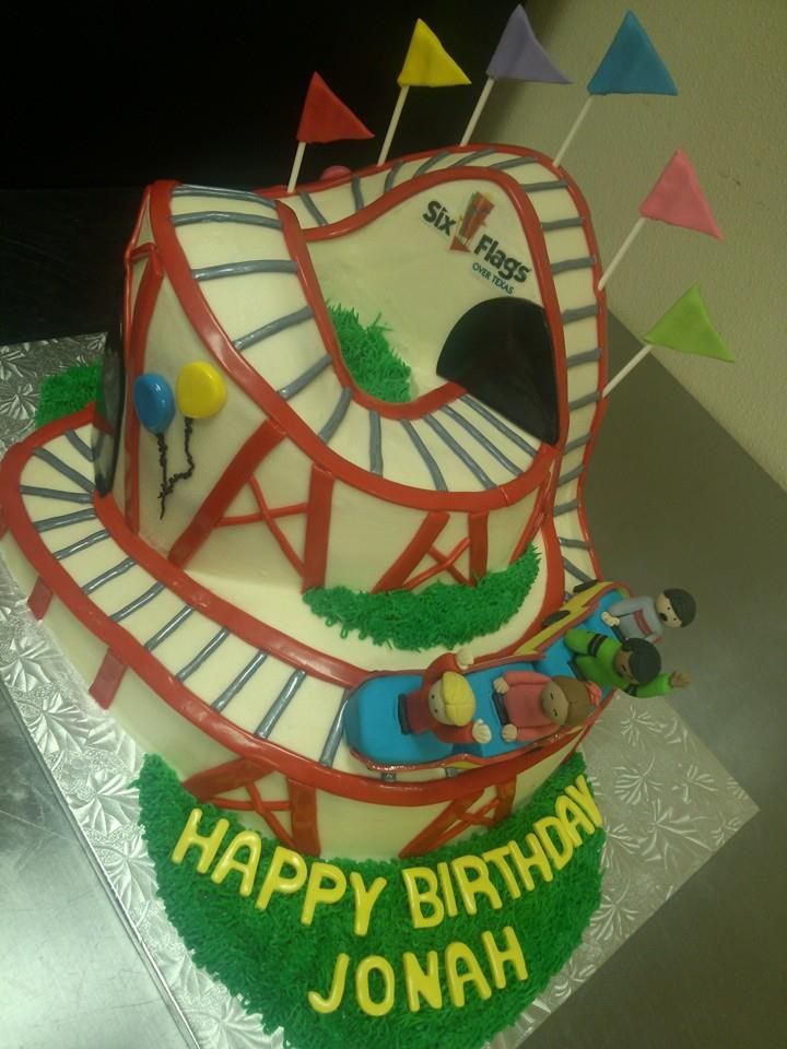 We loved making this roller coaster cake! www.cupcakesfortworth.com